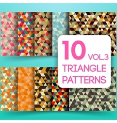 Set of colorful triangle backgrounds vector image