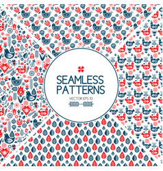 Set of seamless pattern graphic elements vector