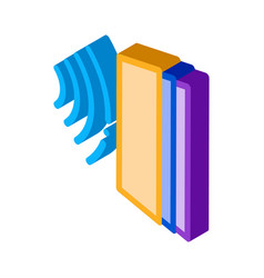 sound heading for door isometric icon vector image