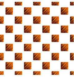 square choco biscuit pattern seamless vector image
