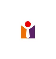 succcess man sign abstract logo vector image
