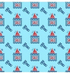 Summer sale badge seamless pattern vector image