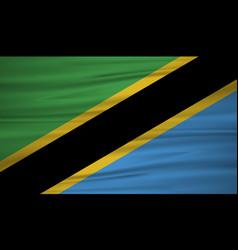 tanzania flag flag of tanzania blowig in the vector image