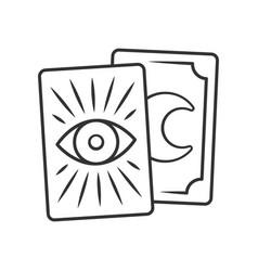 Tarot cards linear icon thin line tarocchi vector