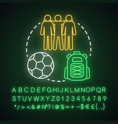 Teens camp neon light concept iconsummer vector