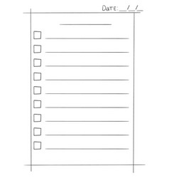 to do list in doodle sketch vector image vector image