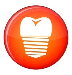 Tooth implant icon flat style vector image