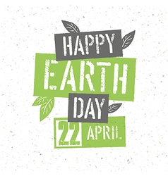 Typographic design for Earth Day Concept Poster vector