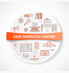 Ugc user generated content with icon concept with vector