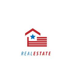 Us real estate logo vector