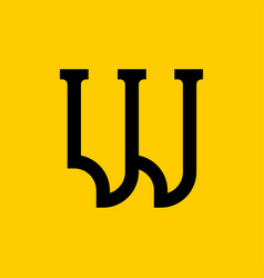 W letter old russian font national folk alphabet vector