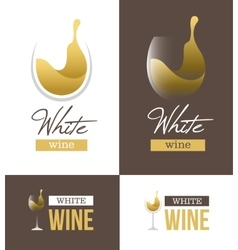White wine logo vector