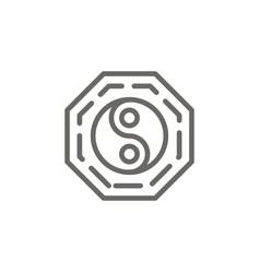 yin yang symbol icon spiritual concept vector image