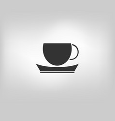 icon tea vector image