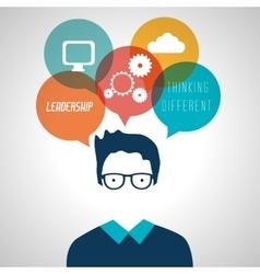Leadership business entrepreneur design vector image