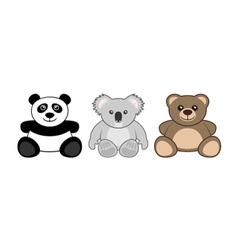 teddy animals vector image
