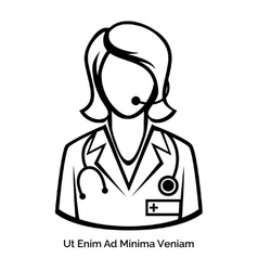 Medicine Online Remote consultation on health and vector image