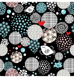 Round pattern with birds vector image