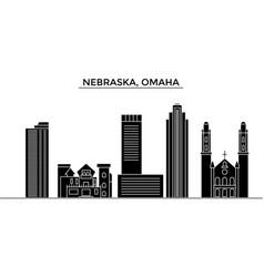 Usa nebraska omaha architecture city vector