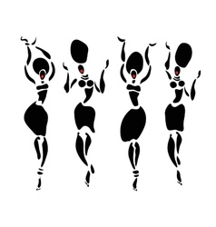 African beautiful dancers women vector