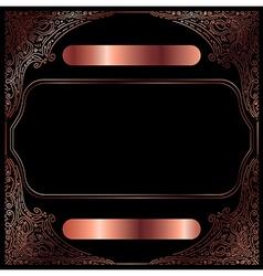 Copper Vintage Decorative Frame vector image vector image