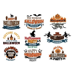 Halloween designs vector