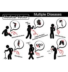 Multiple diseases vector image vector image