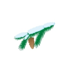 Pine branch icon cartoon style vector image vector image