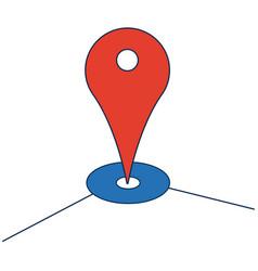 Pointer map navigation gps guide app vector
