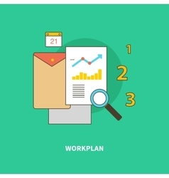 Stage Business Process is Formation of Workplan vector image vector image