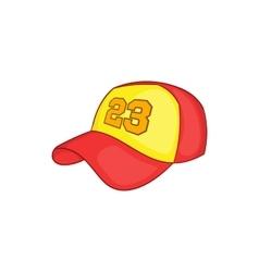 Baseball cap icon cartoon style vector image