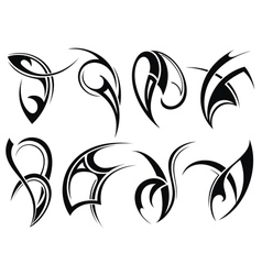 Collection of Tribal tattoo vector image
