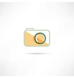 Color camera icon vector image vector image