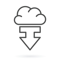 download from cloud service vector image vector image