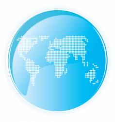 high tech gloss world dots vector image vector image