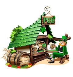 irish pub vector image
