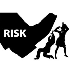 risk foot step on uninsured business people vector image vector image