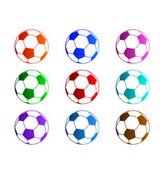 soccer balls vector image vector image