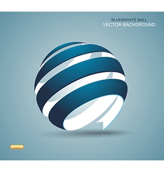 Abstract sphere made from colorful stripes vector image