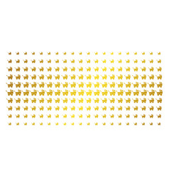Baby carriage gold halftone pattern vector