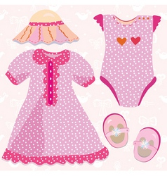 baby costume vector image