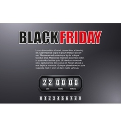 Background Black Friday and countdown timer vector