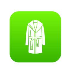 bathrobe icon green vector image