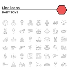 batoy line icons vector image