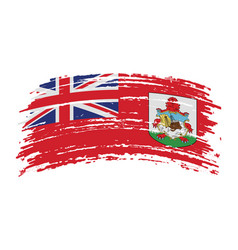 Bermuda flag in grunge brush stroke vector