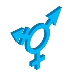 Bisexuals sign isometric 3d icon vector image