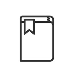 bookmark simple black icon on white vector image