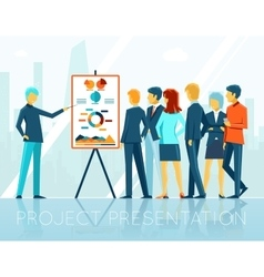 Business meeting project presentation vector image