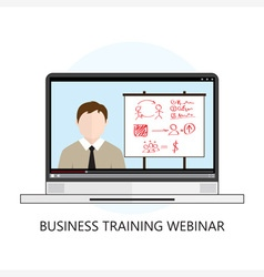 Business Training Webinar Icon Flat Design vector image