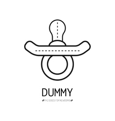 Children dummy Flat icon Subject for newborn vector image